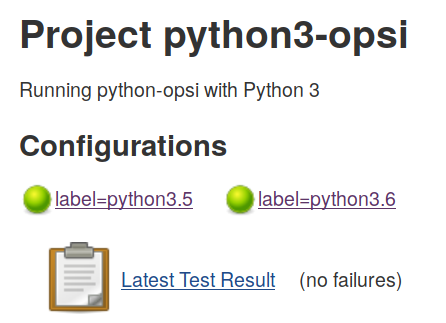 Green Bubbles for python3-opsi